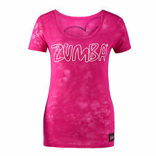 ZUMBA Fitness Party in Pink Groove for the Cure crew neck tee tshirt S burnout