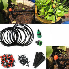 DIY Micro Drip Irrigation System Plant Self Watering Outdoor Garden Hose Kits #A