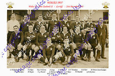 WALES 1935 (v New Zealand) INTERNATIONAL RUGBY TEAM PHOTOGRAPH or POSTCARD