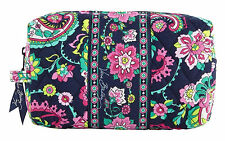 VERA BRADLEY TRAVEL MEDIUM COSMETIC BAG PETAL PAISLEY MAKE UP BAG NWT RETIRED