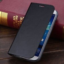 Luxury Glossy PU Leather Card Wallet Case Flip Cover For Samsung Galaxy S4 I9500