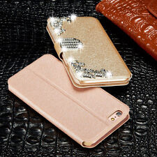 Luxury Leather Diamonds Magnetic Flip Wallet Stand Case Cover For Apple iPhone