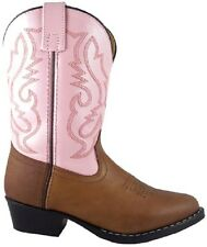 Girl's Brown/Pink Leather Pageant/Halloween Costume Western Style Cowgirl Boots
