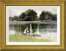'A Pleasant Afternoon' by Alfred Thompson Bricher Framed Painting Print