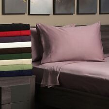 Egyptian Cotton 300 Thread Count Queen Waterbed Solid Sheet Set
