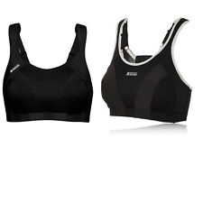 Shock Absorber Womens Active 4490 Black Quick Dry Max Support Sports Bra Top New