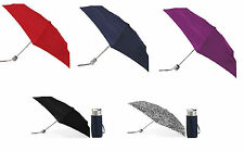 Totes Isotoner 8601 Micro Mini Umbrella Manual Rain Travel Purse Bag ALL COLORS