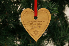 Personalised Christmas Decorations Heart Decorations