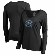 Women's Black Columbus Blue Jackets Pond Hockey Slim Fit Long Sleeve T-Shirt