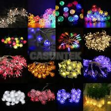 10/20/30/40 LEDs String Lamp Fairy Lights Xmas Wedding Home Garden Tree Decor