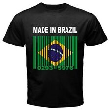 MADE IN BRAZIL Brasil rio Brazilian Barcode Flag CUSTOM T-shirt Y02 *ALL SIZES*