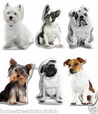 Dog Shaped Photo Cushions With Bulldog, Pug, Terrier, Westie, Or Yorkie Breeds