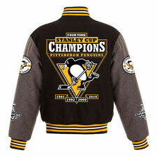 Pittsburgh Penguins JH Design 2016 Stanley Cup 4 Time Champions Wool Jacket
