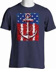 Patriotic American Flag Hipster Navy Anchor Tattoo July 4 Big Tall Free Shipping