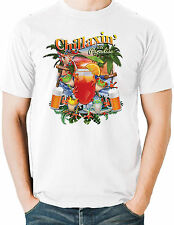 Chill T Shirt Beer Drinking Vacation Cocktails Paradise Mens Size Free Shipping