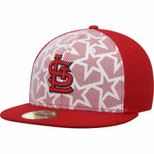 St. Louis Cardinals New Era Stars & Stripes 59FIFTY Fitted Hat - White/Red - MLB