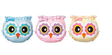 Ganz Baby Girl Peek A Boo Google Eyes Owl Diaper Covers Blue Pink Yellow ER21539