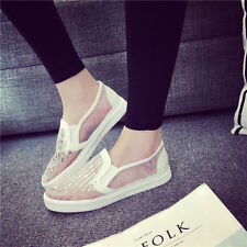 New Fashion Women's Casual Sneakers Classic Breathable Mesh Yarn Sequin Shoes