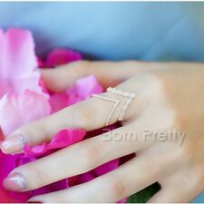 Delicate Shiny Zircon Ring Multilayer Open Adjustable Rings Jewelry Decoration