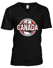Canadian Sun Flag Crest - Canada Pride Nationality Mens V-neck T-shirt