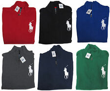 New Polo Ralph Lauren Mens Big Pony Half Zip Fleece Ski Sweater S M L XL 2XL