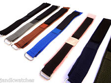 Velcro Sports Water-Resistant Wrap Around Watch Bands Fits 18-20mm