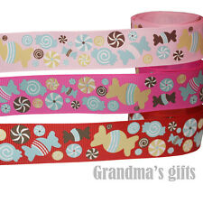 """1""""25mm Candy Princess Printed Grosgrain Ribbon 10/50 Yards Hairbow Wholesale"""