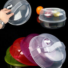 Newest Transparent Microwave Ventilated Plate Dish Food Cover Steam Vent Lid