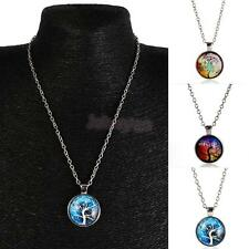 Vintage Mens Womens Tree of Life Charm Pendant Chain Necklace Jewelry Gift