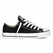 Converse Unisex All Star OX Black Low Top Sneakers Classic Shoes Retro DS M9166C