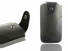 Universal Luxury Leather Belt Pouch Holder Case Cover Holster for Mobile Phone