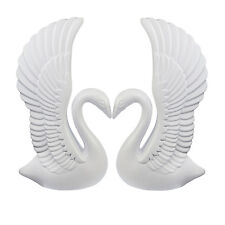 "Elegant White Plastic Wedding Decorative Heart Swans + Roman 40 "" Columns SET"