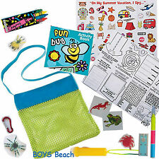 Kids Holiday Travel Pack - Toys activities games beach camping bag boys girls