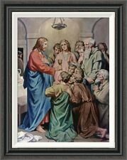 Global Gallery 'The Last Supper' by Heinrich Hofmann Framed Painting Print