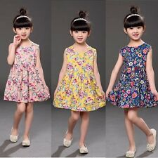 Toddler Kids Baby Girls Princess Party Pageant Dress Floral Tutu Dresses Clothes