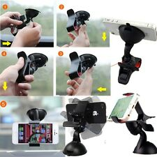 Dual-Use Universal 360 Car Desktop Clip Clamp Suction Mount Holder For Cellphone
