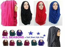 LATEST JERSEY STRETCHY HIJAB LARGE SIZE PLAIN LYCRA MAXI SCARF SHAWL WRAP*ston