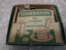 Vintage combination cake decorator and cookie maker W/BOX