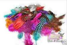 30 Guinea Fowl Natural Dyed Nail Art Feathers Manicure Fishing Craft Jewellery