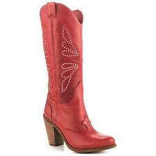 New Jessica Simpson Caralee Chile Pepper Red Stud Leather Cowboy Western Boots