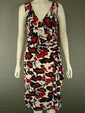 BNWT BEAUTIFUL ALEXON RED, WHITE & BLACK FLORAL PRINT DRESS SIZE 12&14 - RRP £92