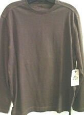 COOPER JONES SUPPLY Mens SLUB CREW 100% Cotton Slub Knit Shirt $98 NWT Brown