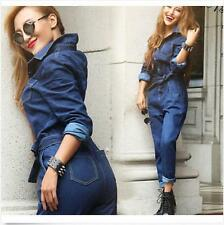 Sexy Women Belt Jeans Trousers Slim Denim Pants Street Casual Jumpsuits Rompers