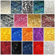 Confetti Metallic Ladder Trellis Ribbon Yarn Sparkle - 182 Yards - YOUR CHOICE!