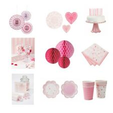 Pink Table & Hanging Decorations Polka Dot Candy Bar Baby Shower Birthday Party