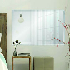 Rectangle Frameless Bevel Edge Contemporary Decorative Wall Mirror