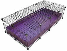 NEW 2x4 Grid Covered C&C Cube & Coroplast Guinea Pig Cage - Large