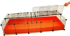 NEW 2x5 Grid Covered C&C Cube & Coroplast Guinea Pig Cage - XL