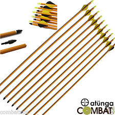 "30"" ALUMINIUM ARROWS FOR COMPOUND OR RECURVE BOW TARGET ARCHERY HUNTING"