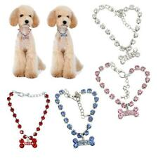 Crystal Diamante Bone Rhinestone Pendant Pet Necklace Collar for Dog Cat Pets